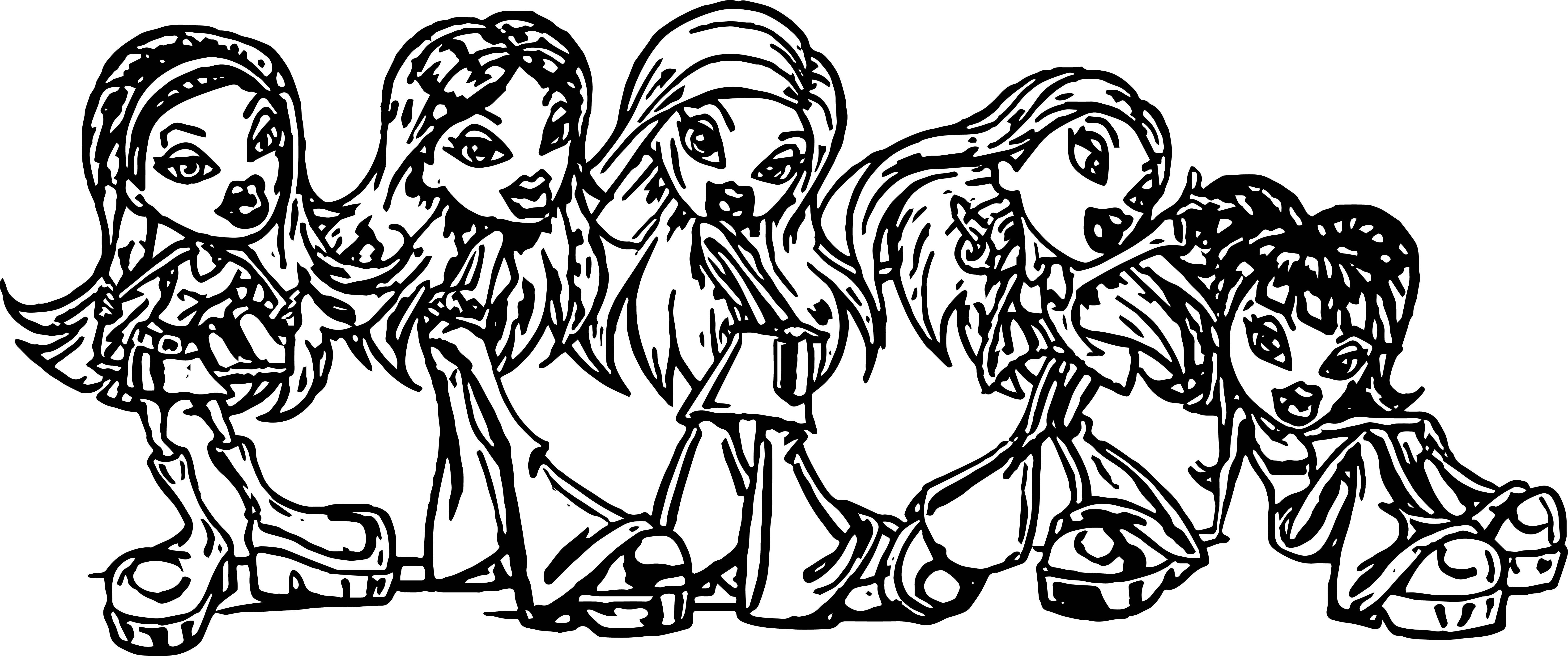 Bratz Girl Friends Coloring Page