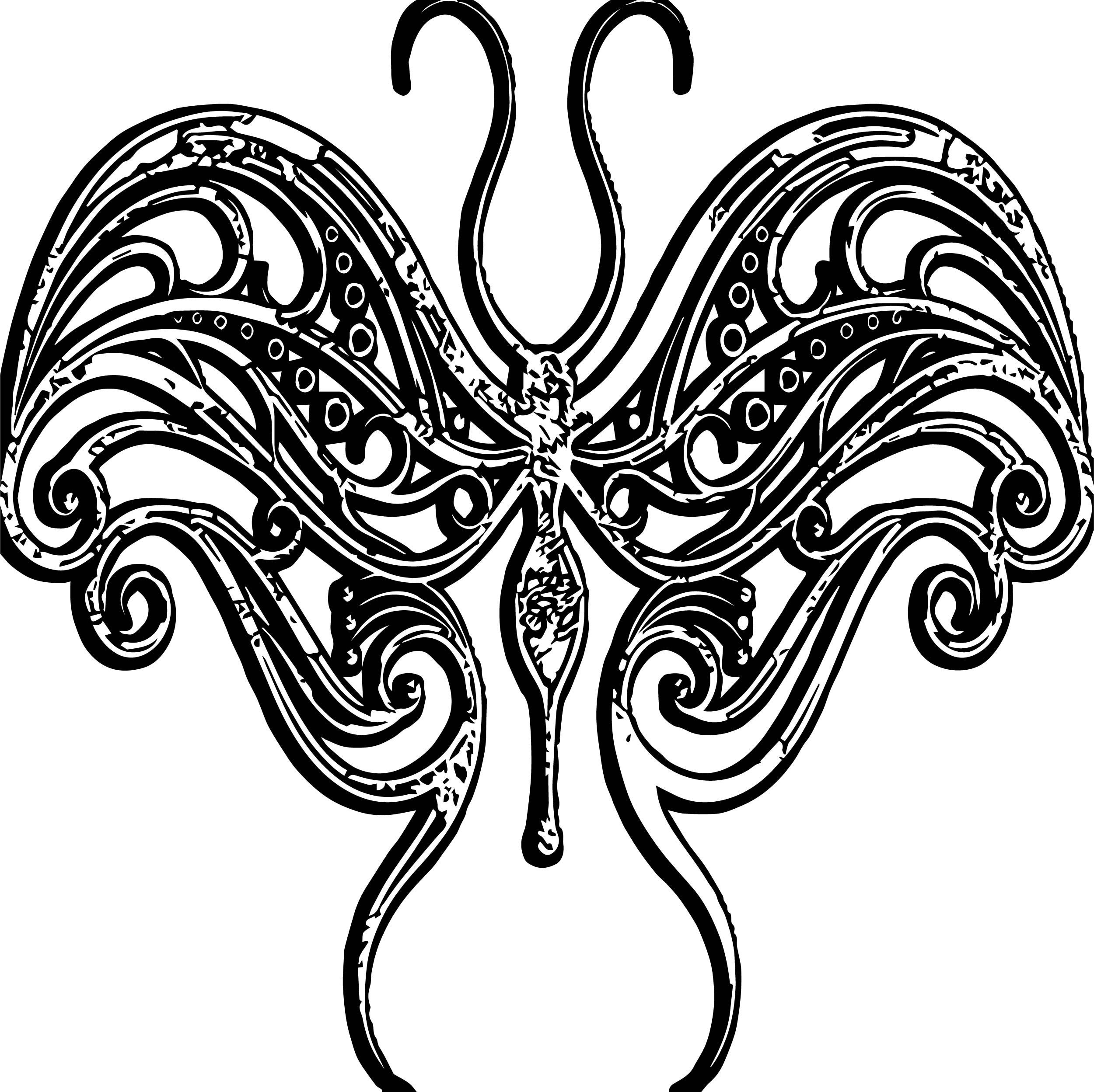 Butterfly Ornament Style Coloring Page