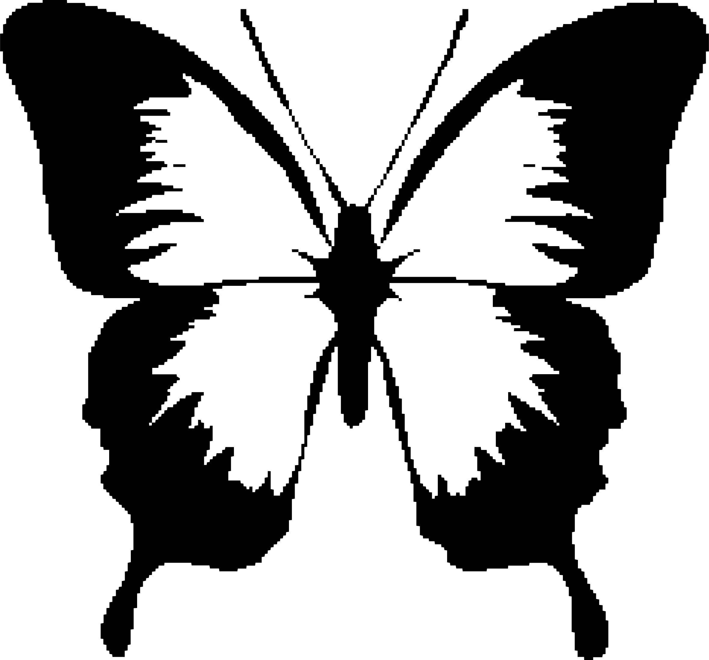 Butterfly Pixel Coloring Page