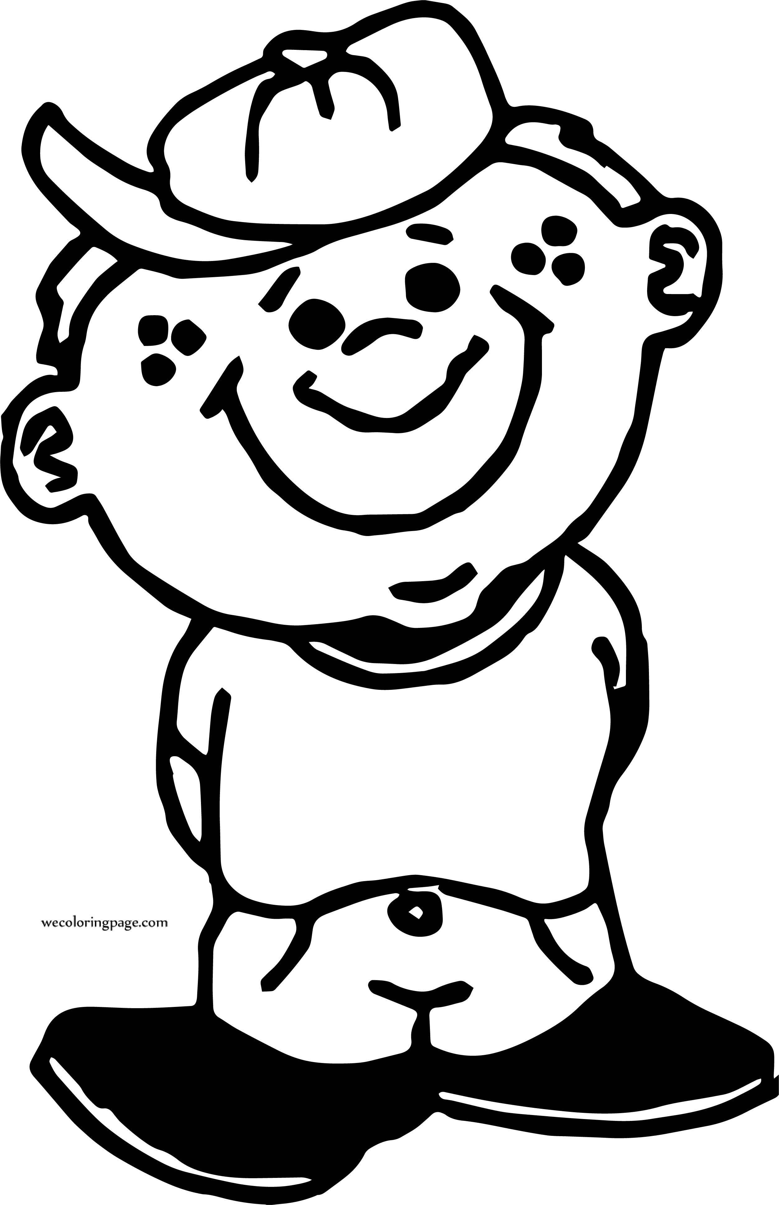 By Boy Coloring Page