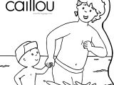 Caillou And My Father At Sea Coloring Page