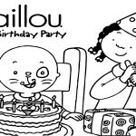 Caillou Birthday Party Coloring Page