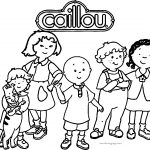 Caillou Family Friends Coloring Page