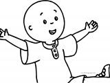 Caillou Foot Up Coloring Page