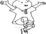Caillou Happy Day Coloring Page