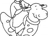 Caillou Jumping Toy Coloring Page