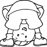Caillou Look Down Coloring Page