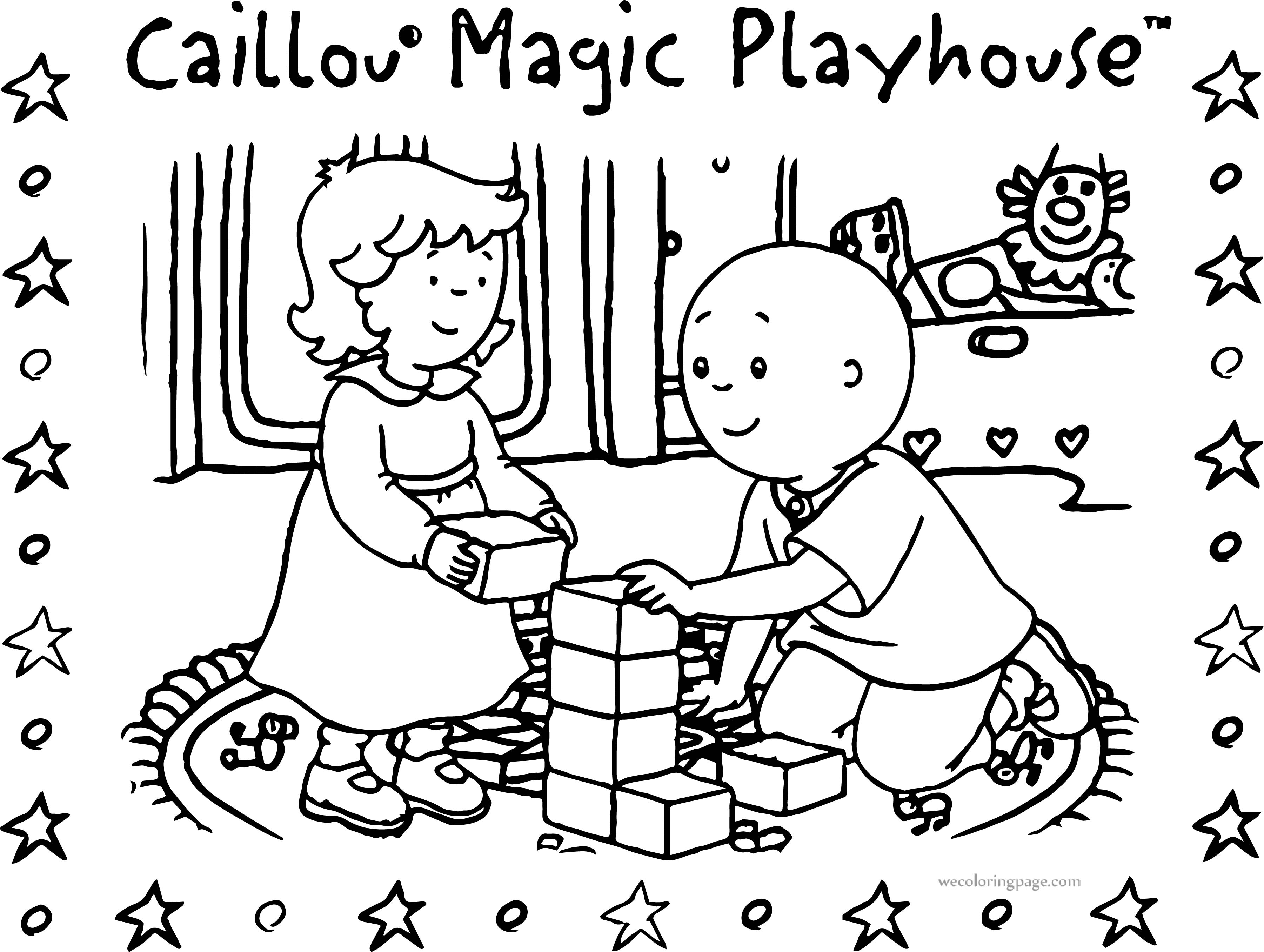 Caillou Magic Playhouse Coloring Page