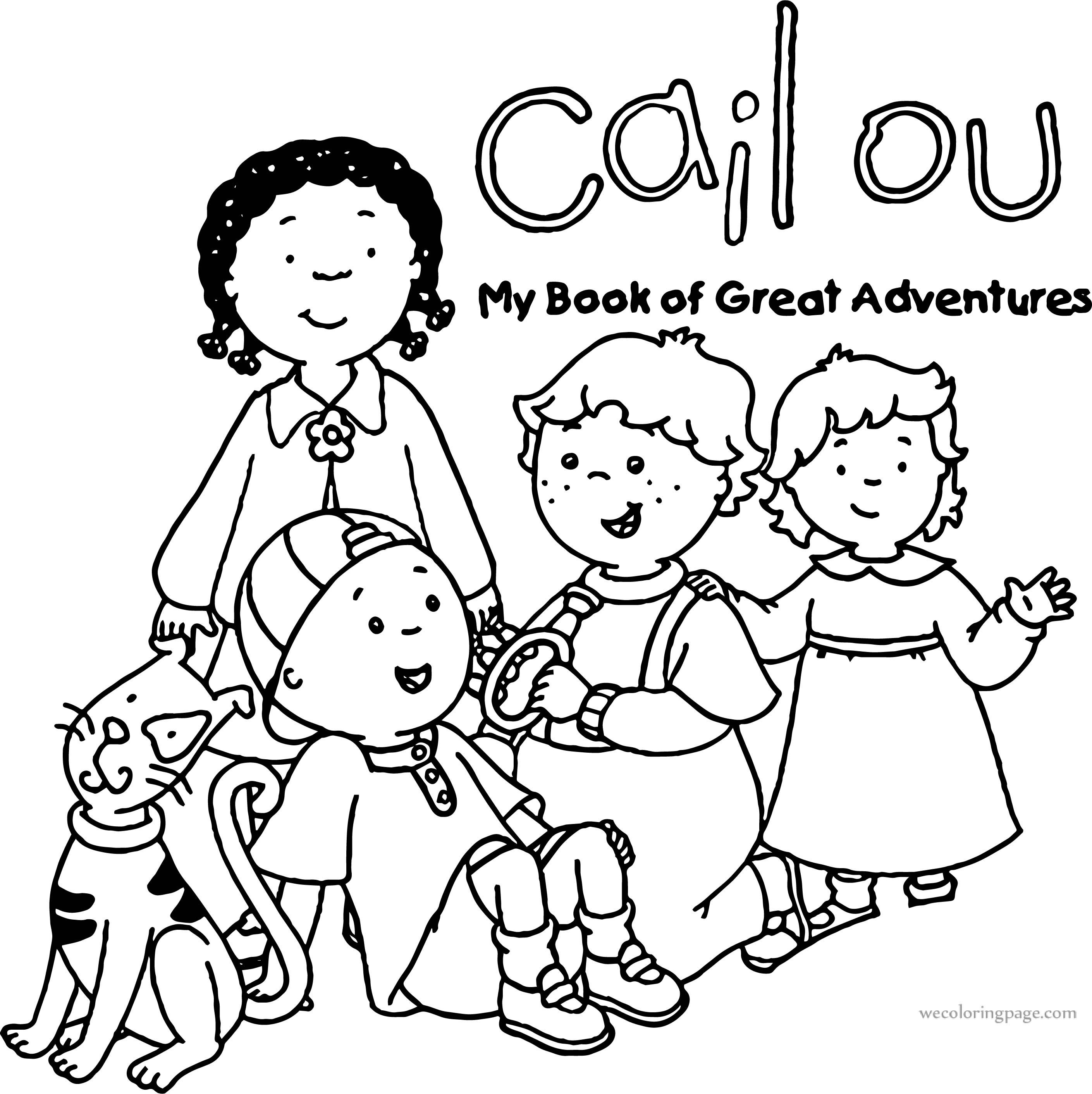 Caillou My Book Great Adventures Coloring Page