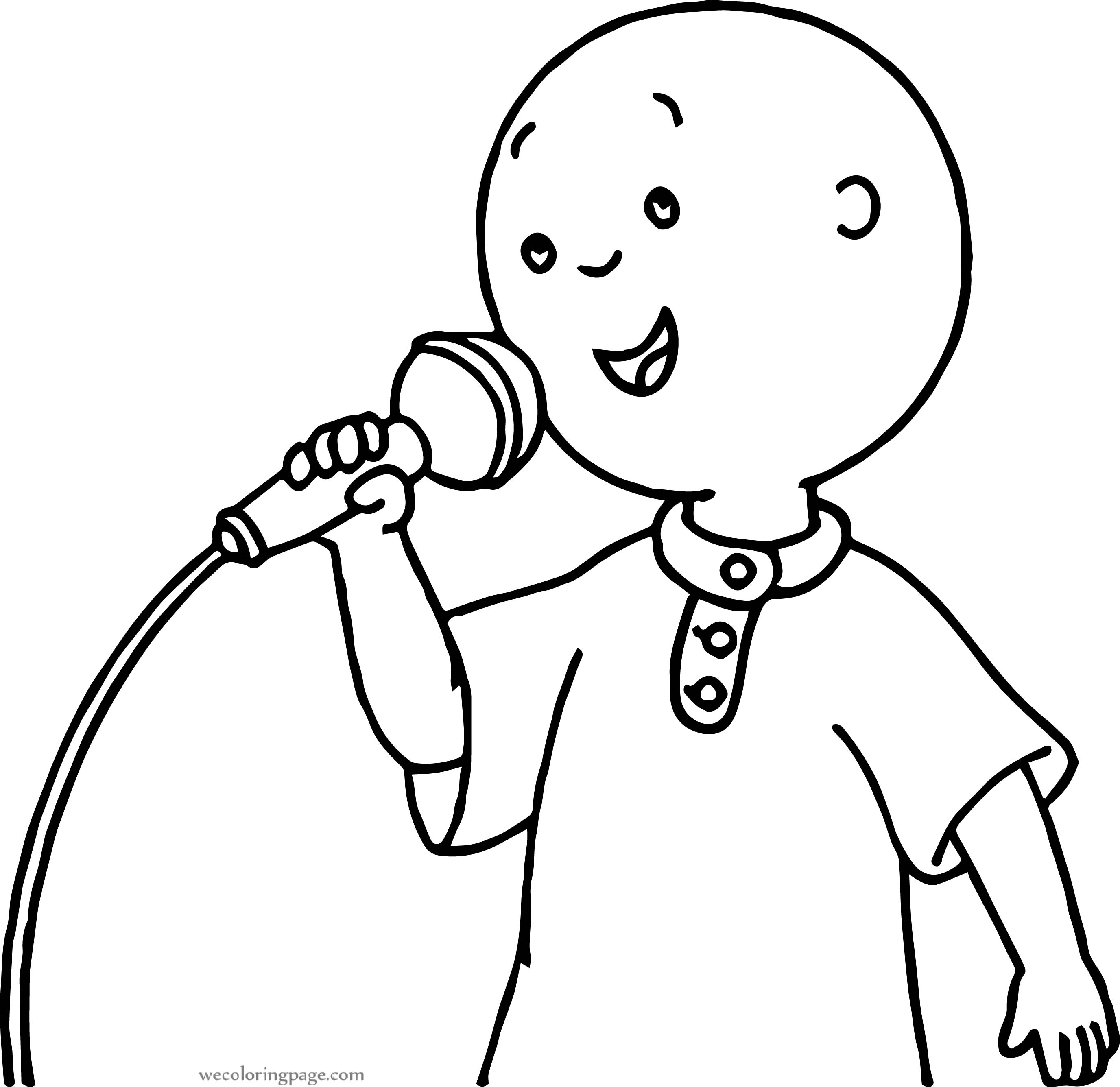 Caillou Song Coloring Page