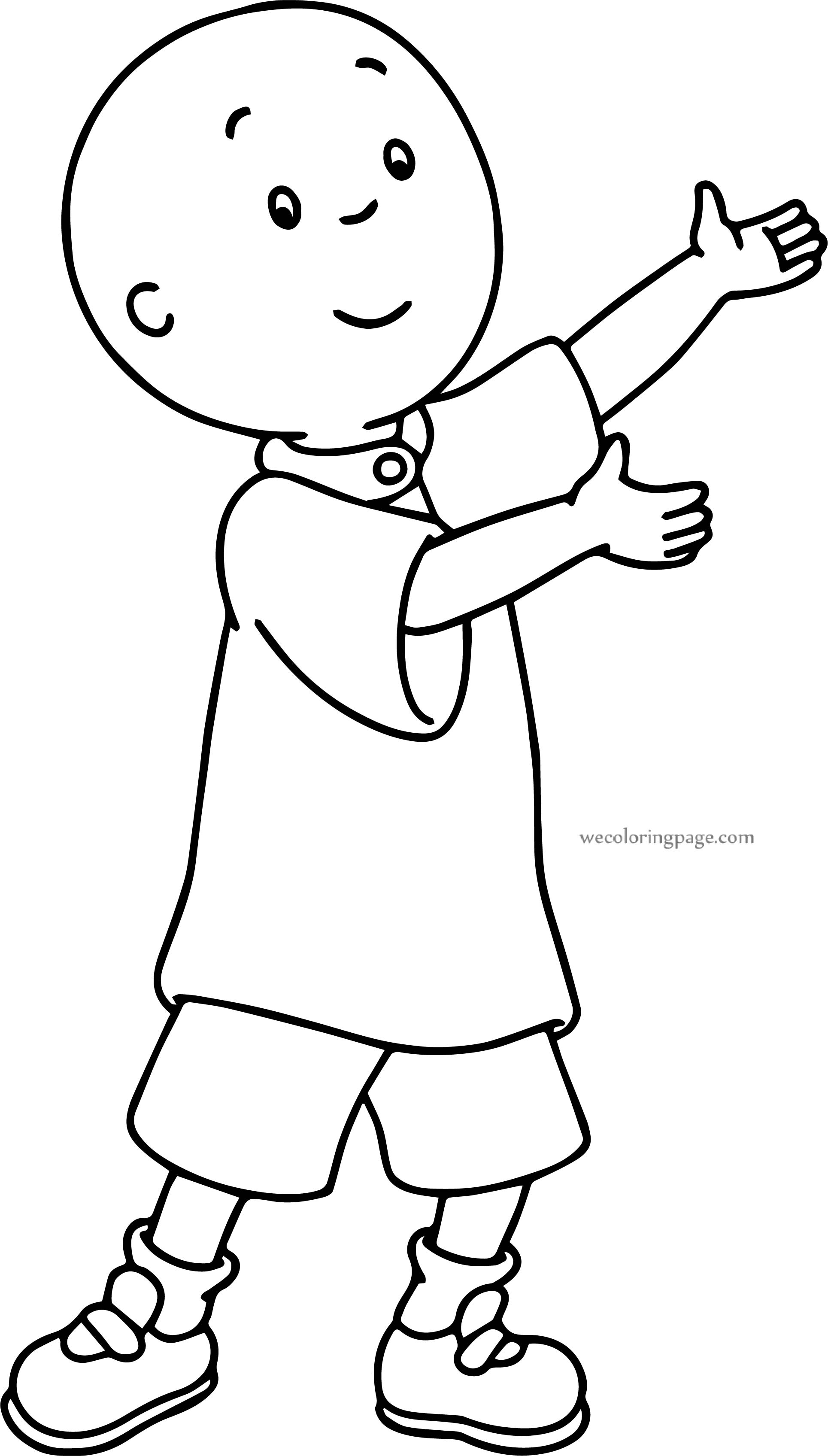 Caillou This Perfect Coloring Page