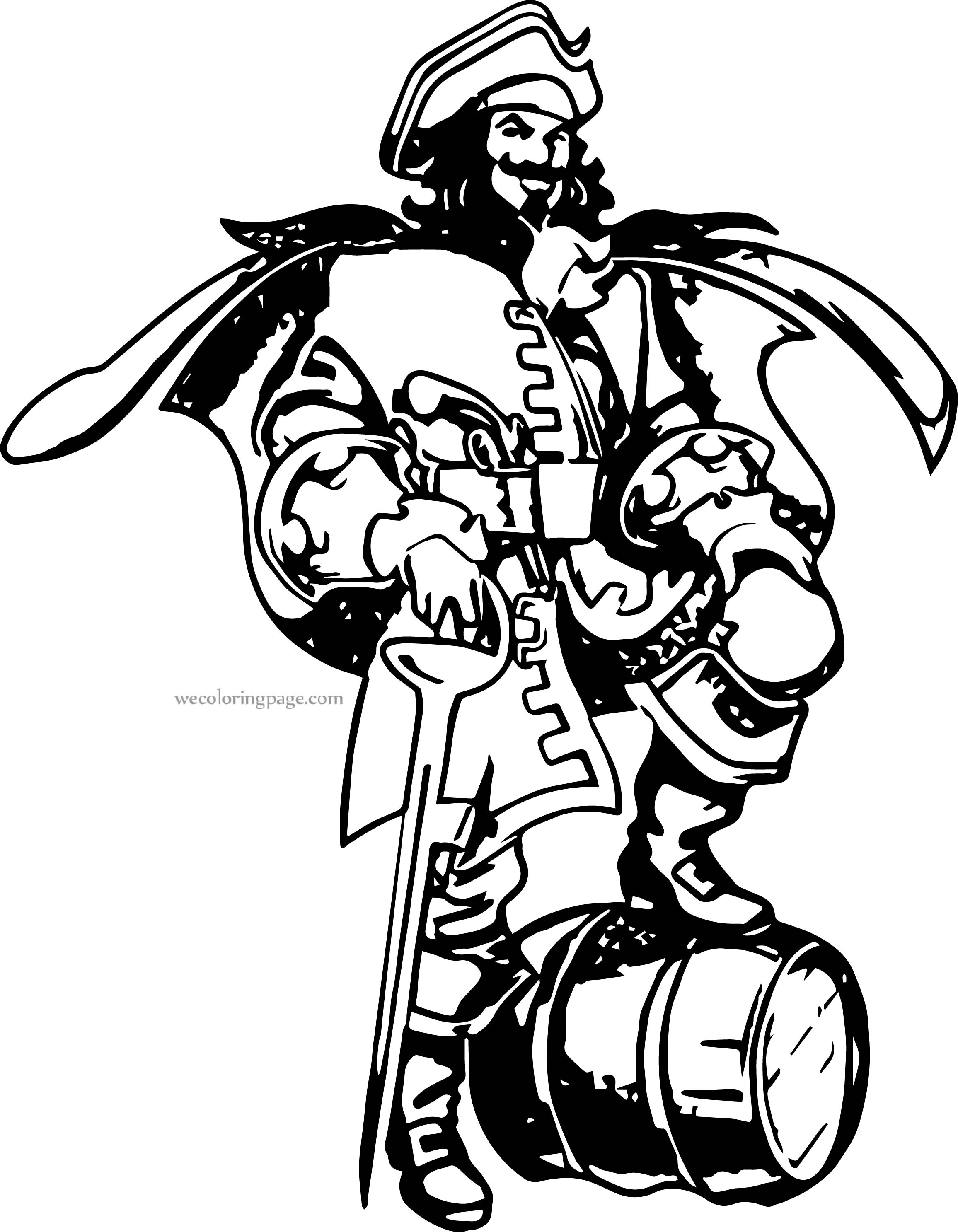 Captain Barrel Coloring Page