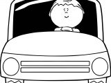 Car Driving Man Coloring Page