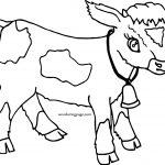 Cartoon Cow Calf Coat Coloring Page