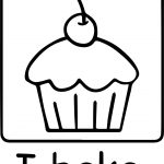 Cartoon Cupcake Dessert Frosting Photo Coloring Page