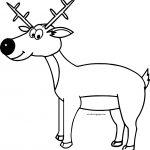Cartoon Deer Very Cute Coloring Page