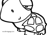 Cartoon Turtle Coloring Pages