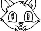 Cat Face Bold Coloring Page