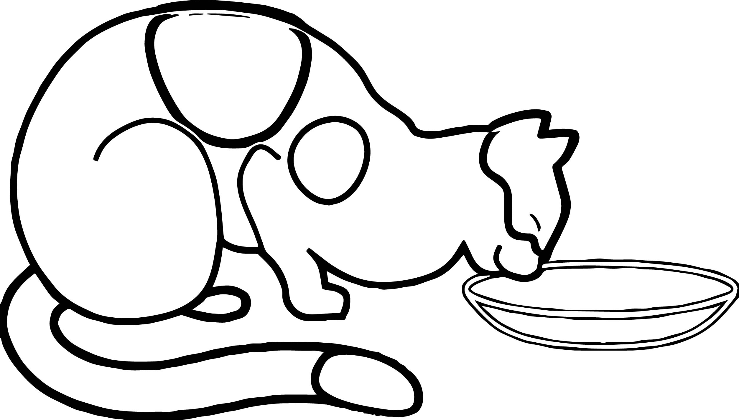 Cat Milk Coloring Page