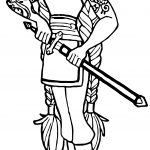 Character Sword Viking Girl Blade Coloring Page