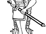 Character Sword Viking Girl Blade Coloring Page