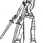 Character Sword Viking Girl Coloring Page
