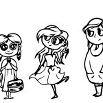 Characters Boy And Kids Design Coloring Page