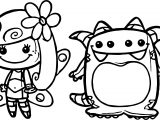 Characters Cute Girl And Creatures Coloring Page