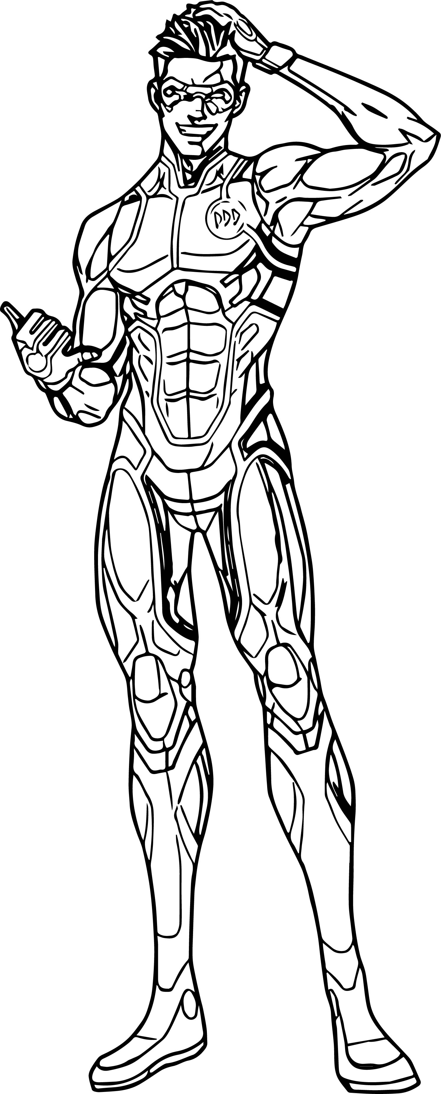 Characters Hero Man Coloring Page