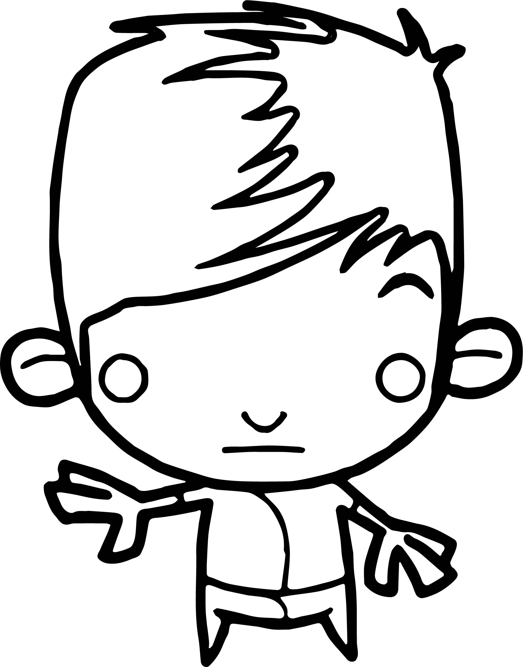Characters Monkey Boy Coloring Pages
