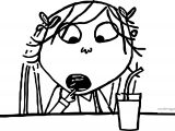 Charlie And Lola Eating Coloring Page