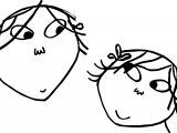 Charlie And Lola Faces Coloring Page