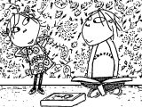 Charlie And Lola In Room Coloring Page