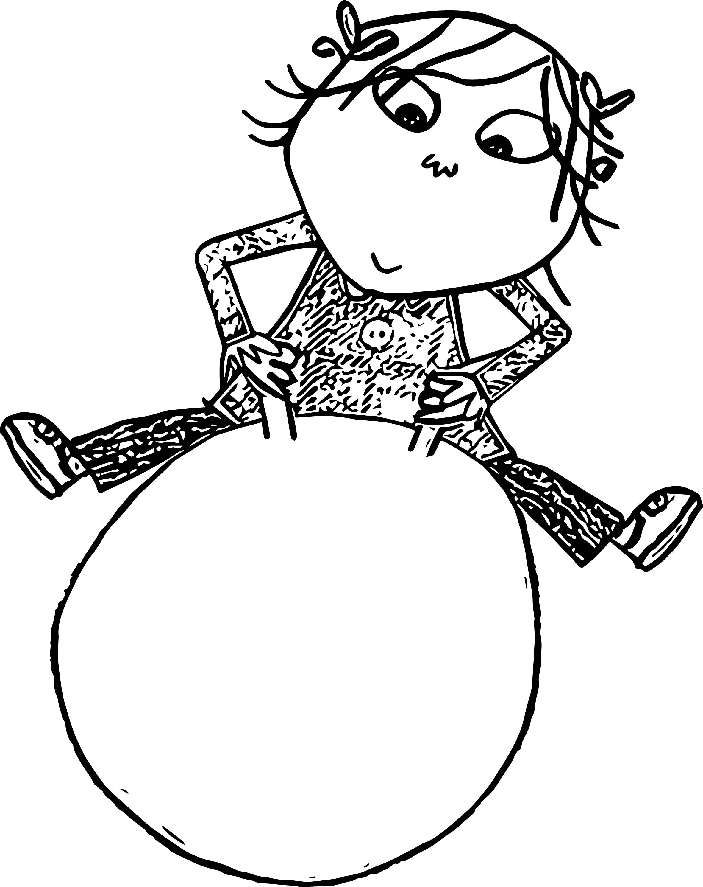 Charlie And Lola Pilates Ball Coloring Page