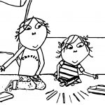 Charlie And Lola Playing Coloring Page