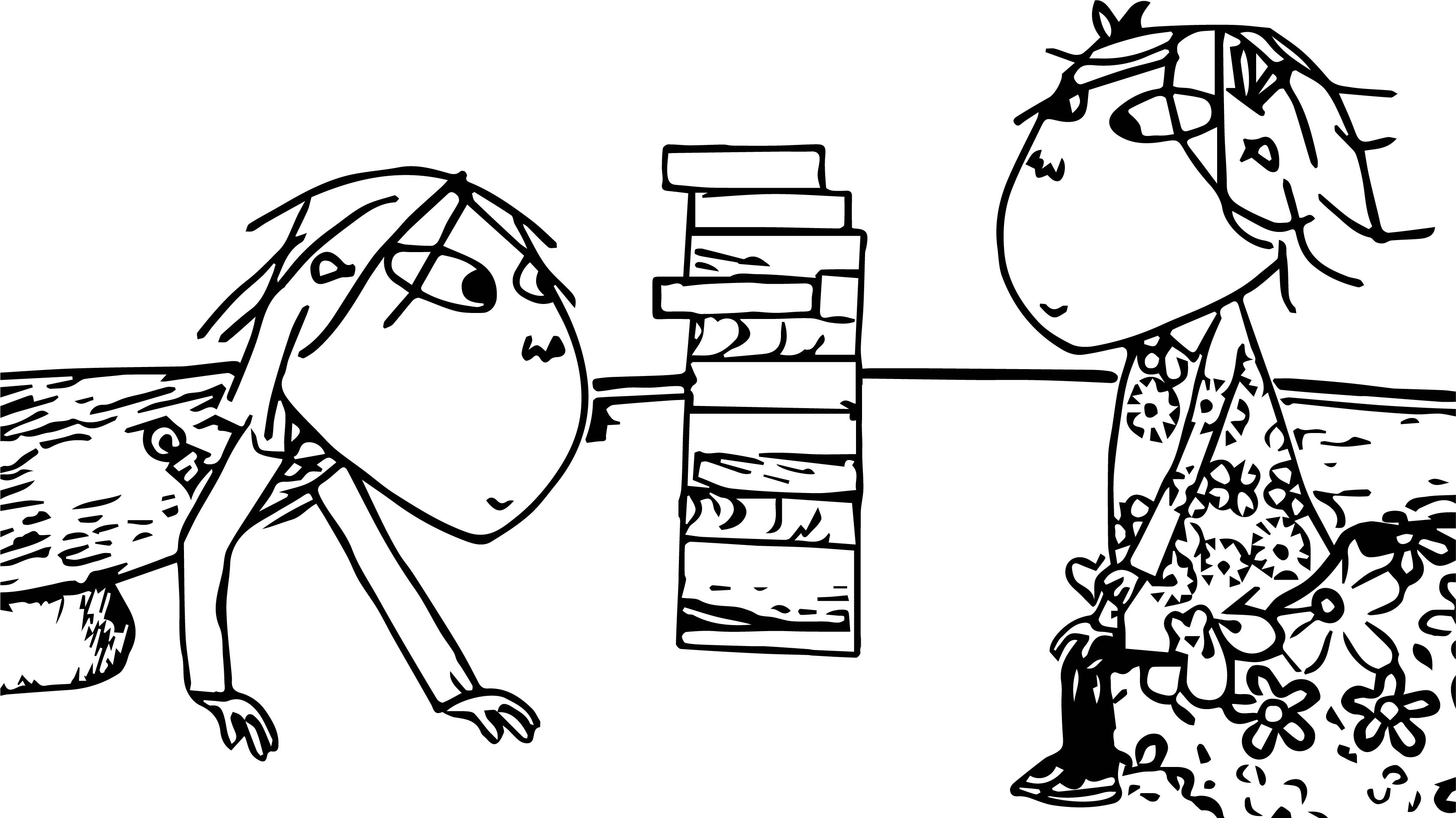 Coloring Pages Airplanes Preschool : Charlie and lola playing jenga coloring page wecoloringpage