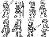 Chibi Characters Design Coloring Page