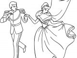 Cinderella And Prince Charming Birds Coloring Pages