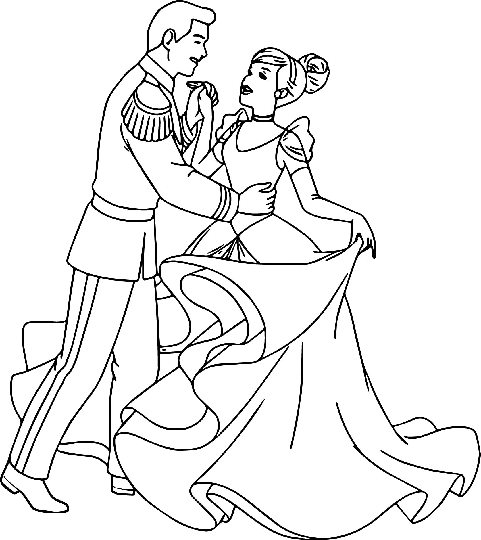 Cinderella And Prince Charming Coloring Pages - Photos Coloring Page ...