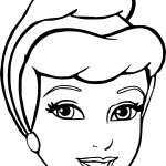 Cinderella Face Coloring Pages