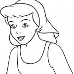 Cinderella Smile Coloring Pages