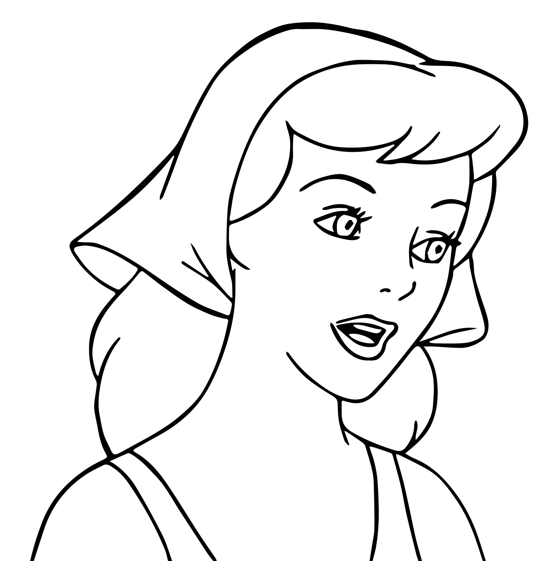 Cinderella Talking Coloring Pages