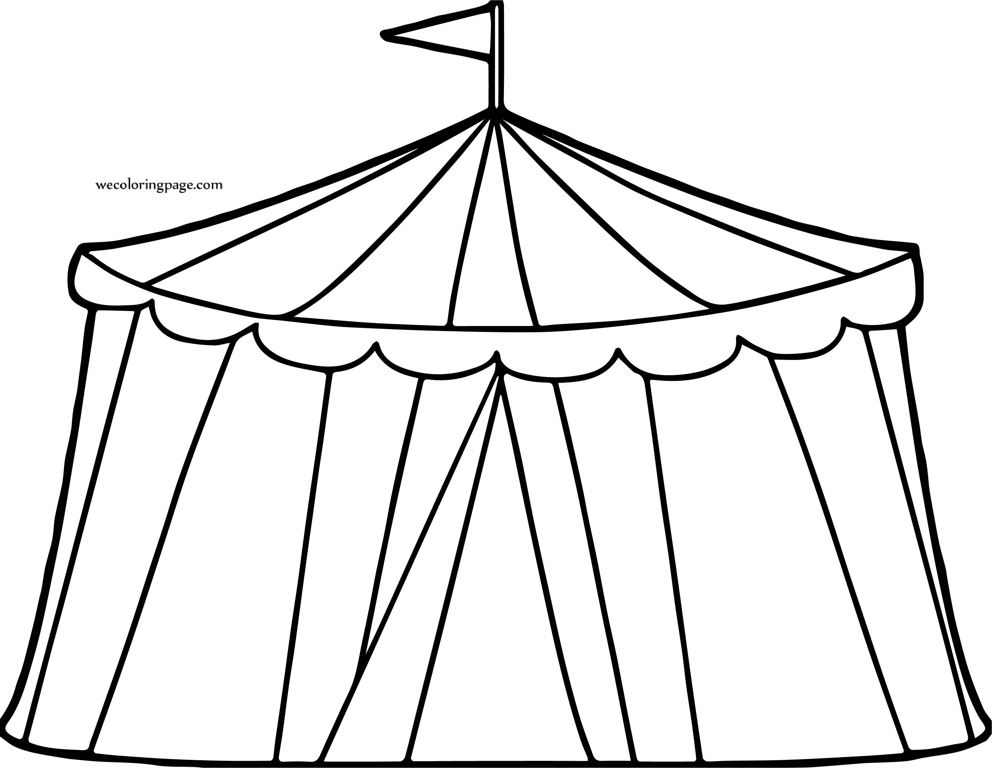 Circus Circus Tent Coloring Page
