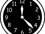 Clock Black Background Coloring Page