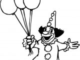 Clown Balloon Coloring Page