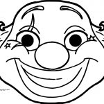 Clown Big Fat Face Coloring Page