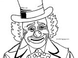 Clown Circus Sad Coloring Page