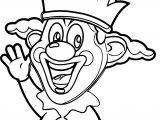 Clown Hello Coloring Page