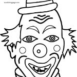 Clown Not Funny Coloring Page