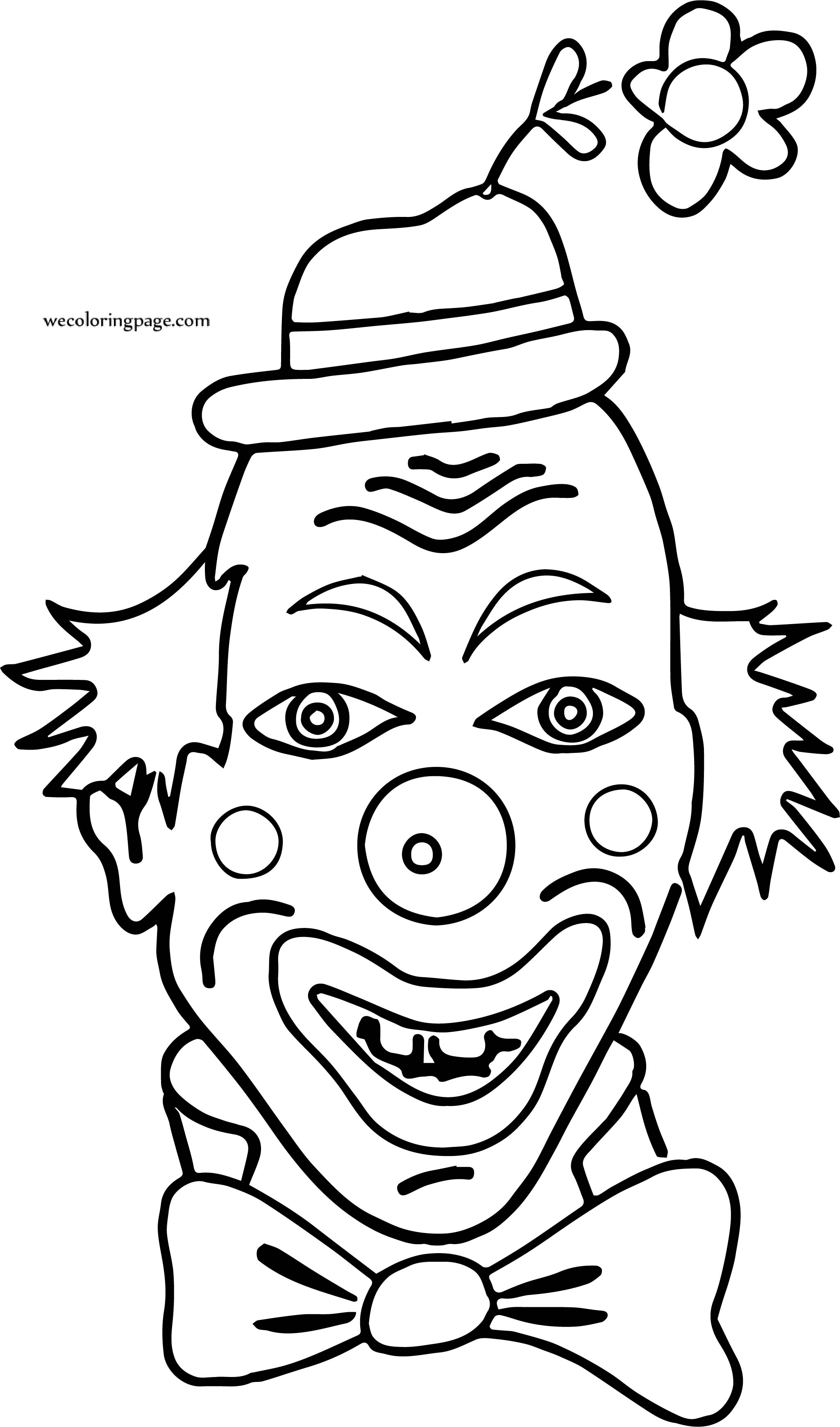 Clown Not Funny Coloring Page | Wecoloringpage.com